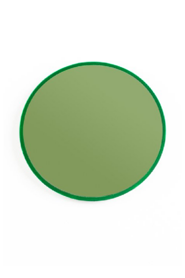 Green Round Mirror S | Bold Monkey You're So Ugly | DutchFurniture.com
