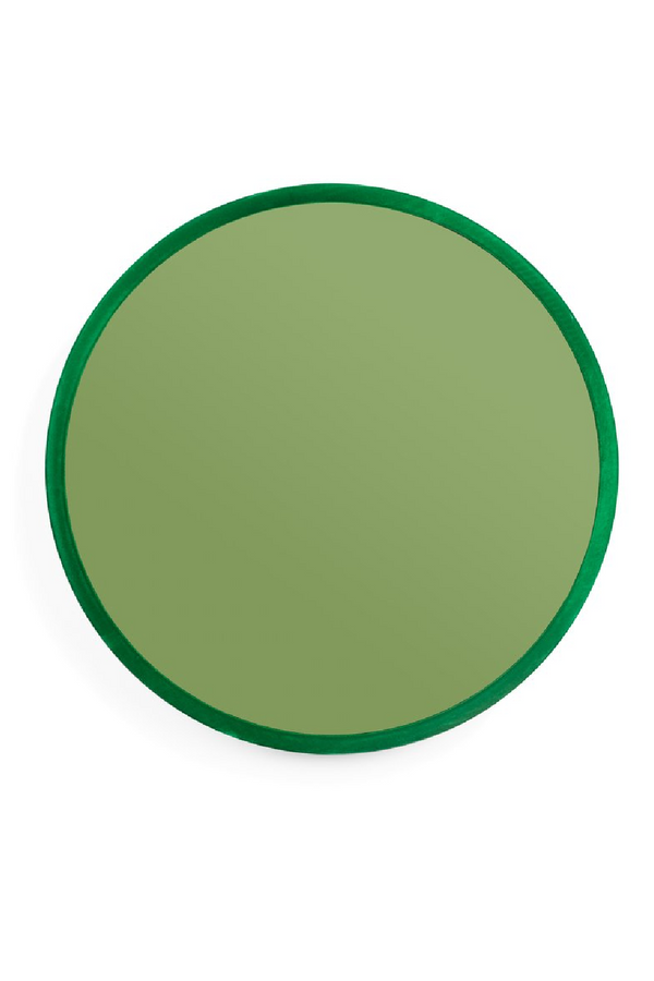 Green Round Mirror L | Bold Monkey You're So Ugly | DutchFurniture.com