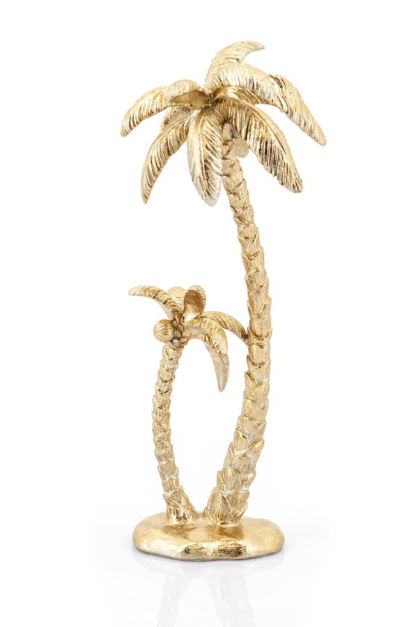 Gold Palm Tree Decorative Statue (set of 2) | By-Boo Sanka | DutchFurniture.com