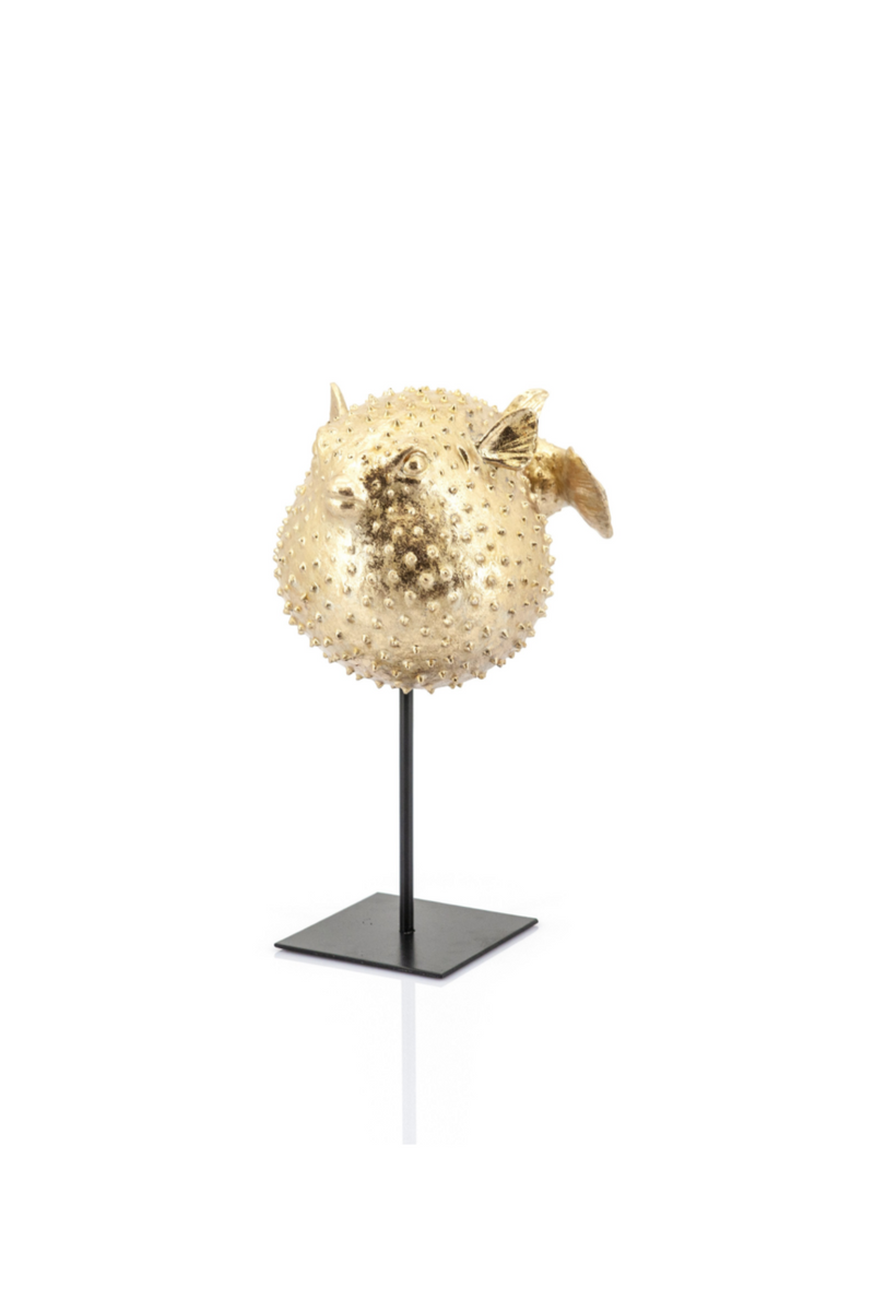 Small Gold Blowfish Decorative Statues (2) | By Boo Puffy