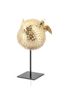 Large Gold Blowfish Decorative Statue (2) | By Boo Puffy | DutchFurniture.com