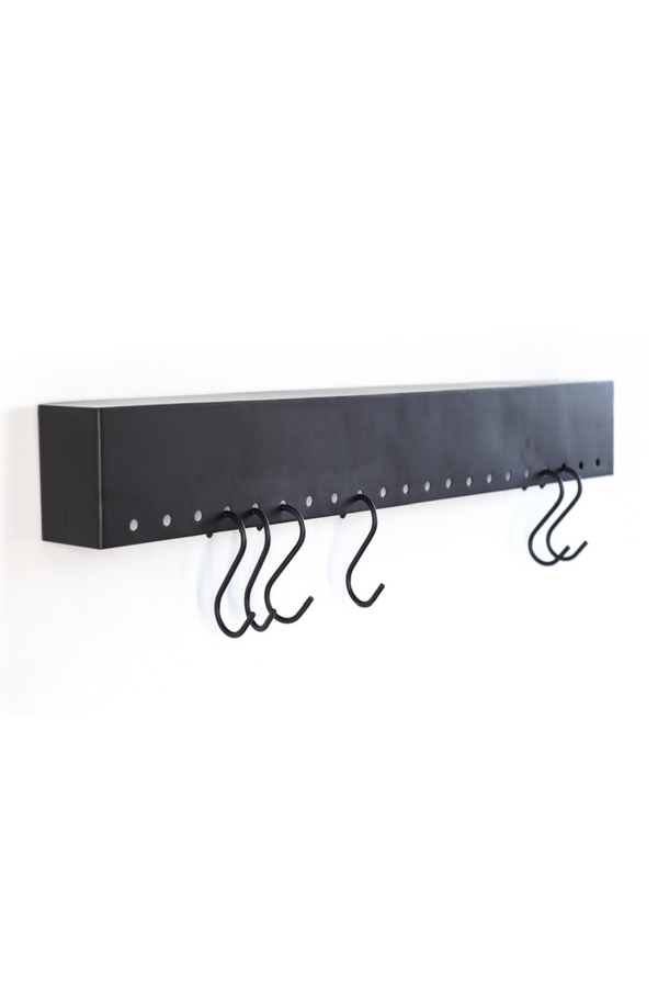 Wall Mounted Wall Ledge With Hooks (L) | By Boo Captain | DutchFurniture.com