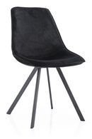 Black Velvet Dining Chairs (2) | By-Boo Belle | DutchFurniture.com
