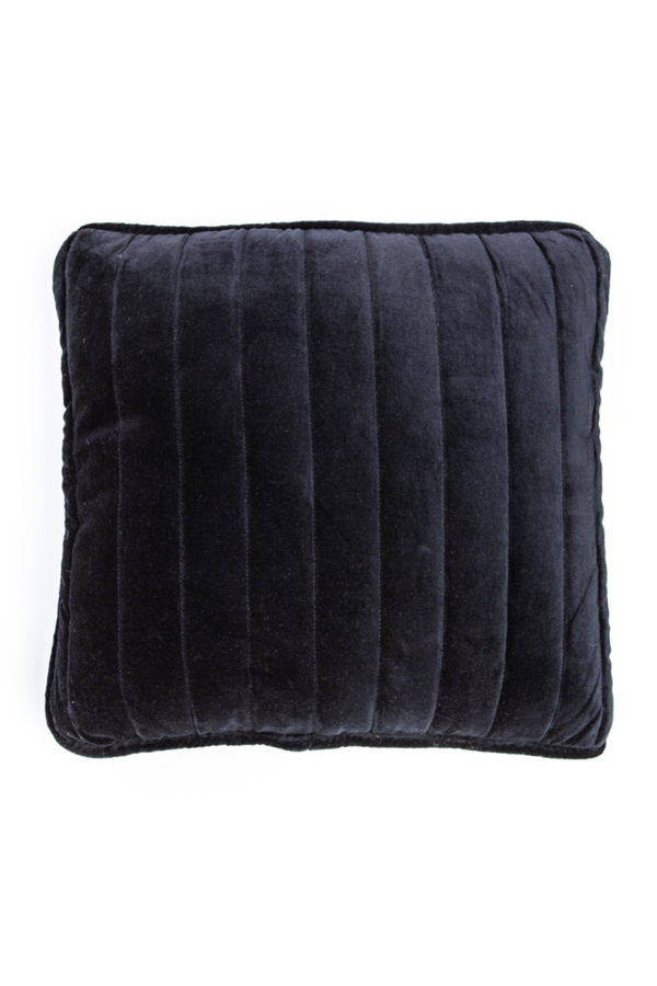 Square Black Velvet Throw Pillows (2) | By Boo Lucy | DutchFurniture.com