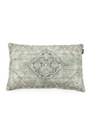 Rectangular Green Woven Throw Pillows (2) | By-Boo River | DutchFurniture.com