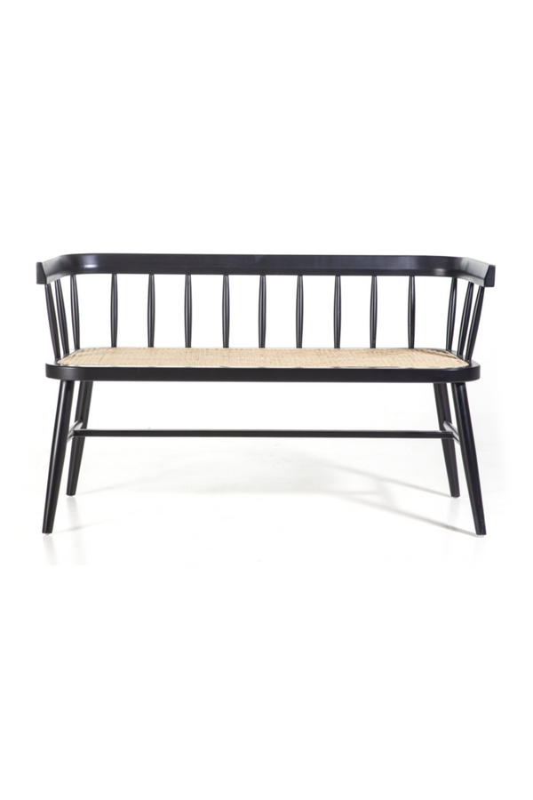 Black Cane Loveseat Bench | By-Boo Dante | Modern Dutch Furniture