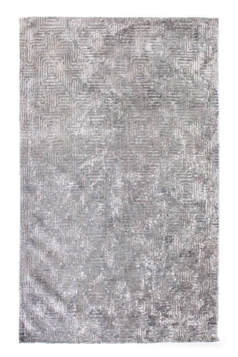 Gray Geo Pattern Area Rug 5' x 7′5″ | By-Boo Madam | DutchFurniture.com