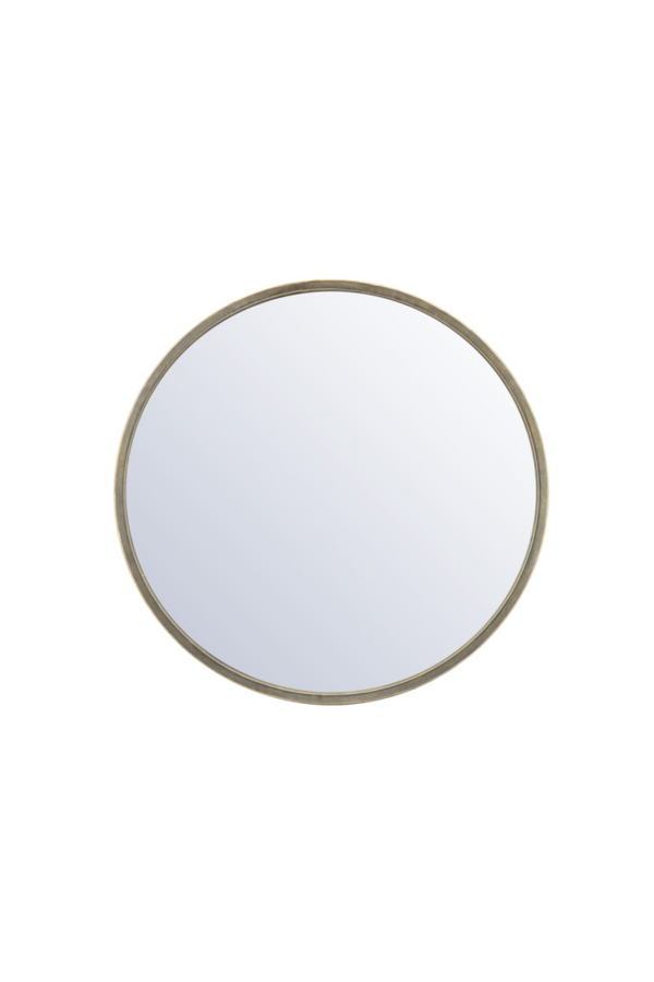 Gold Round Accent Mirror L | By-Boo Selfie | DutchFurniture.com