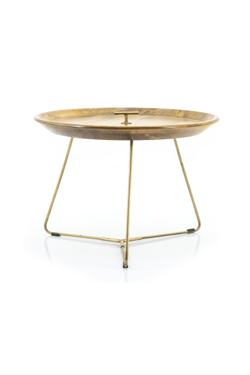Gold Tray Top End Table M | By-Boo Medja | DutchFurniture.com