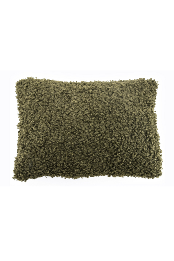 Green Cozy Teddy Lumbar Pillows (2) | By-Boo Dolly | DutchFurniture.com