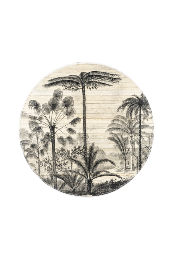 Round Bamboo Wall Art L | By-Boo Morita Forest | dutchfurniture.com