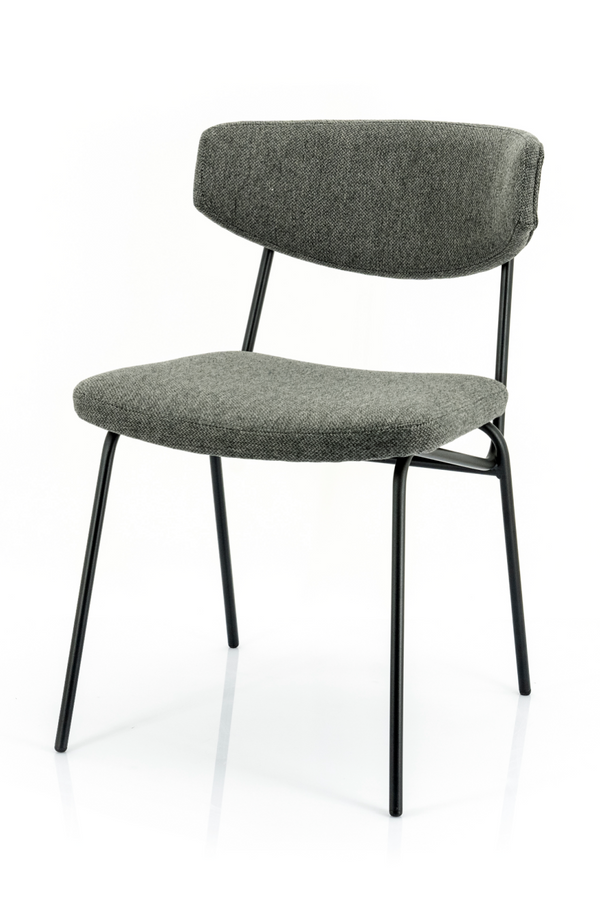 Dark Gray Upholstered Dining Chairs (2) | By-Boo Crockett | Dutchfurniture.com