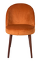 Orange Velvet Dining Chairs (2) | Dutchbone Barbara | DutchFurniture.com