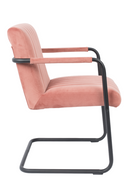 Pink Velvet Dining Armchair (2) | Dutchbone Stitched | dutchfurniture.com