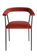 Red Upholstered Dining Armchair | Dutchbone Haily | dutchfurniture.com