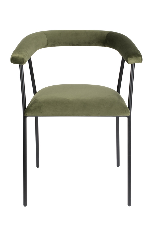 Green Upholstered Dining Armchair | Dutchbone Haily | DutchFurniture.com