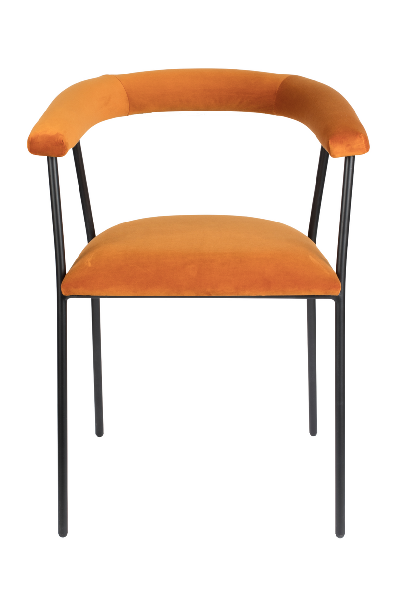Orange Upholstered Dining Armchair | Dutchbone Haily | dutchfurniture.com
