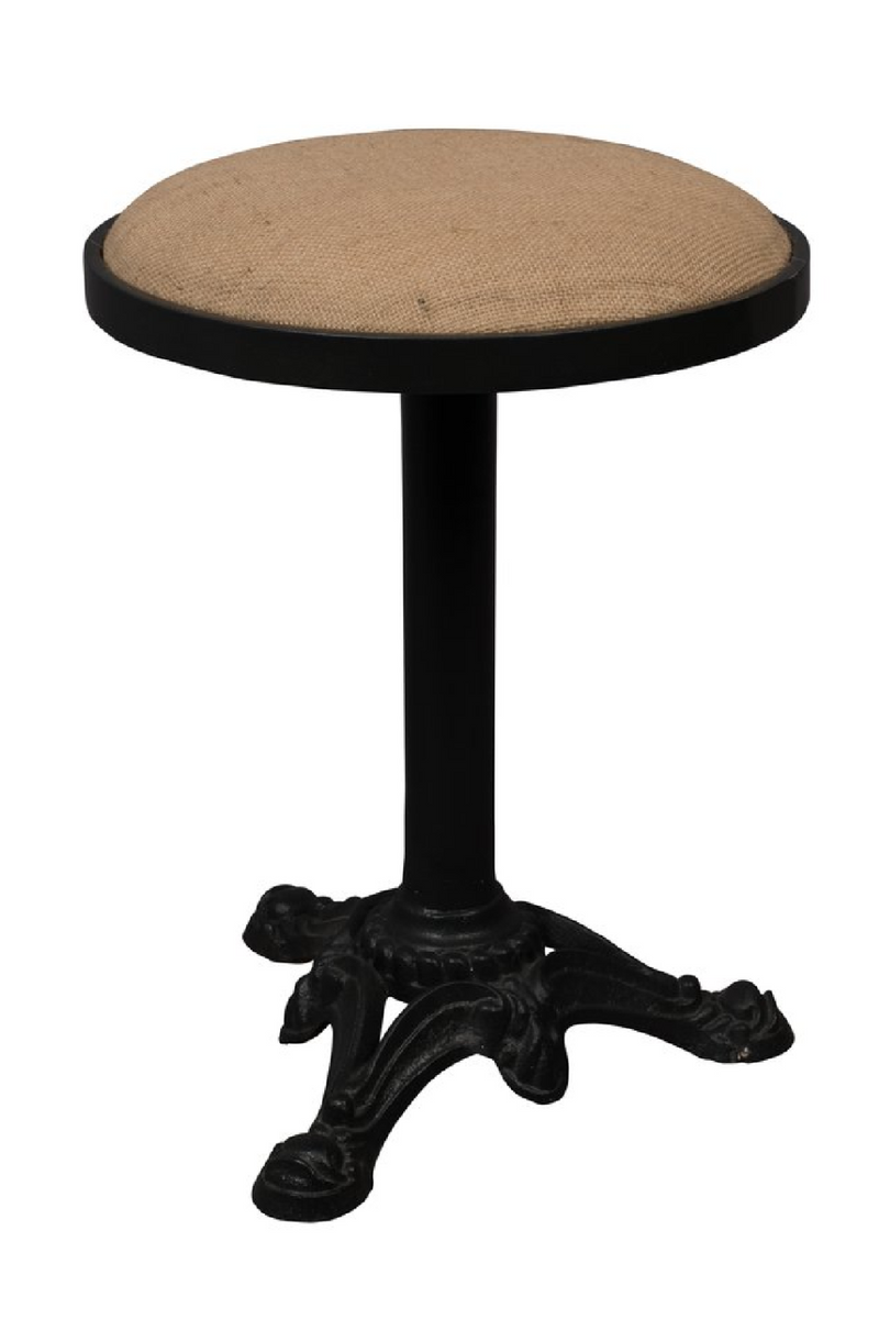 Linen Upholstered Accent Stool | Dutchbone Mezza | dutchfurniture.com