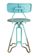 Vintage Turquoise Counter Stool | Dutchbone Ovid | dutchfurniture.com