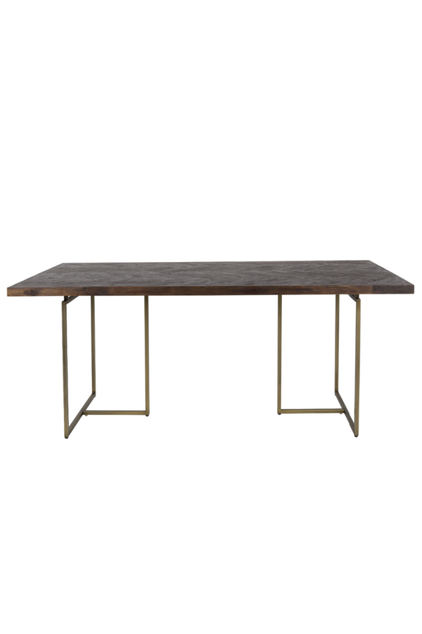 Vintage Brass Dining Table S | Dutchbone Class | dutchfurniture.com