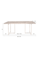 Vintage Brass Dining Table M | Dutchbone Class | dutchfurniture.com