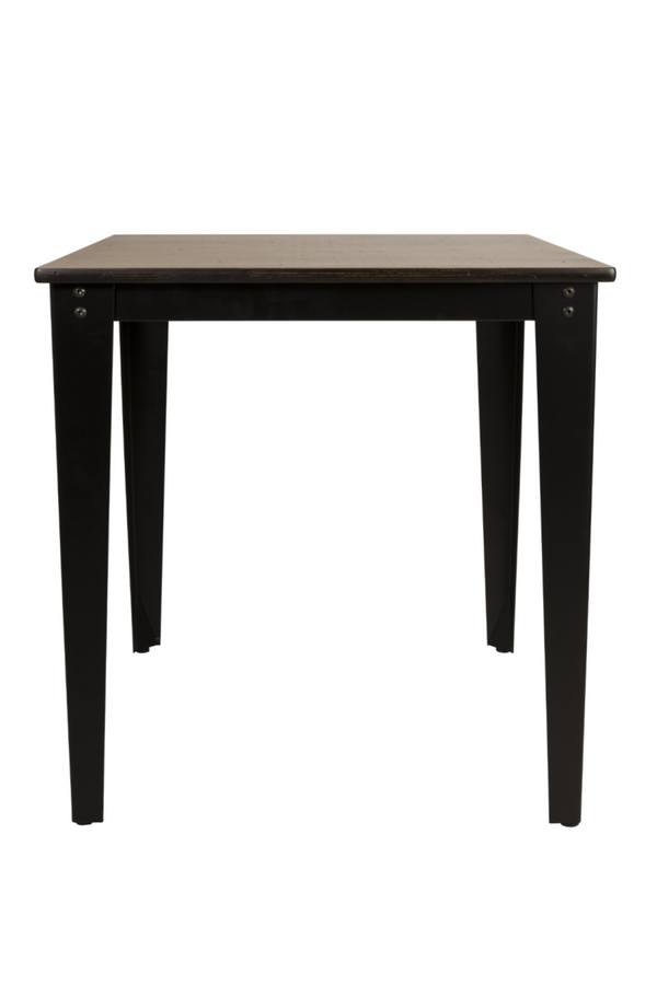 White and Black Dining Table S | Dutchbone Scuola | dutchfurniture.com