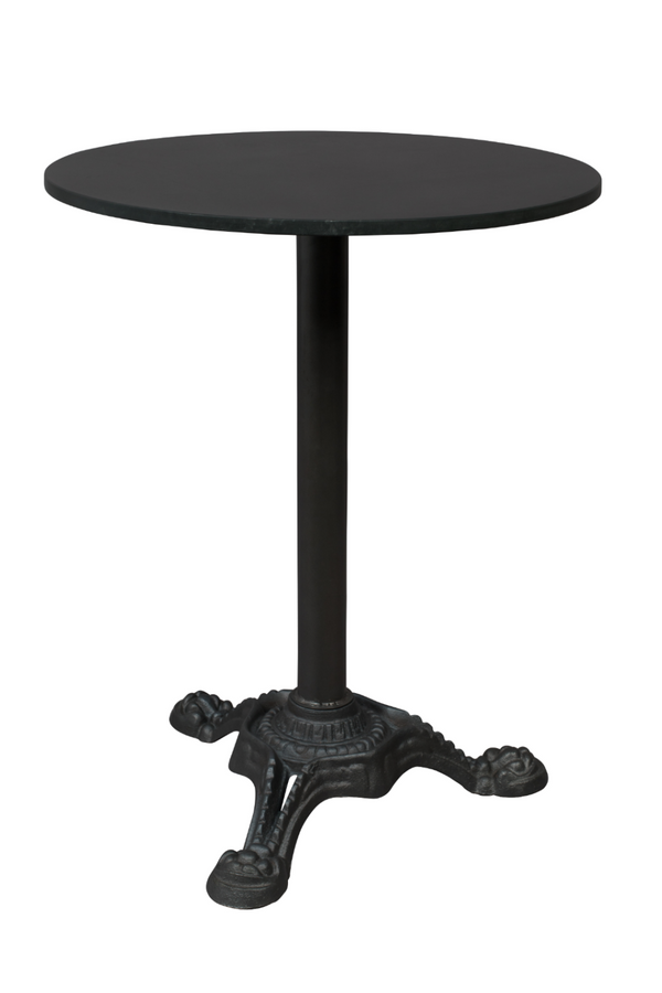 Black Marble Bistro Table | Dutchbone Mezza | DutchFurniture.com