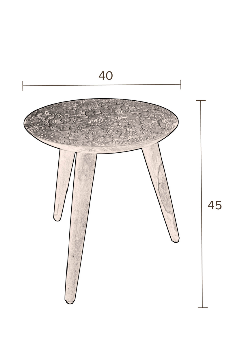 Round Wooden End Table L | Dutchbone By Hand | dutchfurniture.com