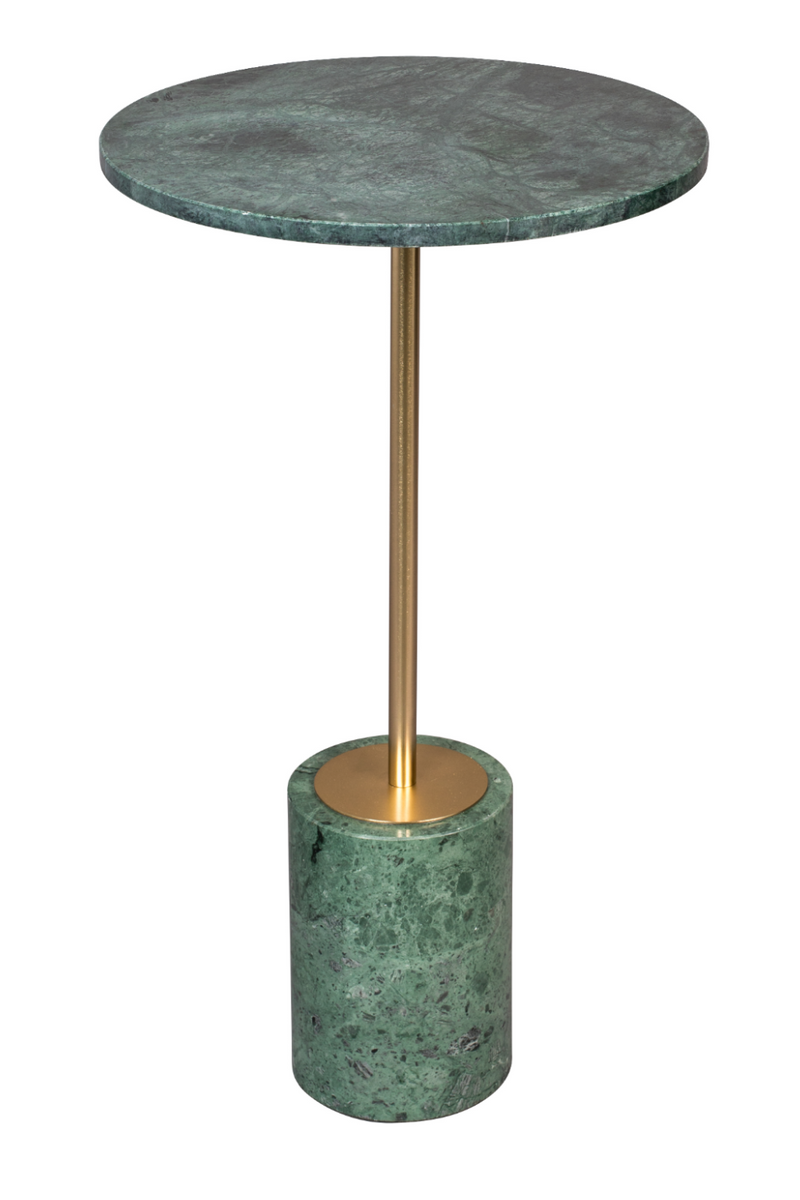 Green Round Marble End Table | Dutchbone Gunnar | dutchfurniture.com