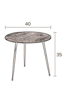 Round Black Accent Table S | Dutchbone Pepper | dutchfurniture.com