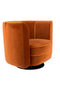 Orange Velvet Accent Chair | Dutchbone Flower | dutchfurniture.com