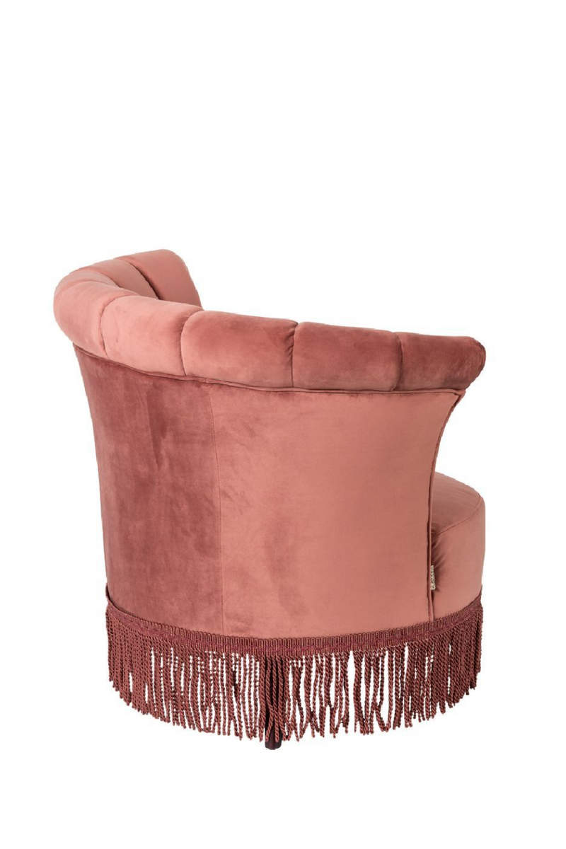 Pink Fringe Accent Chair | Dutchbone Flair | dutchfurniture.com