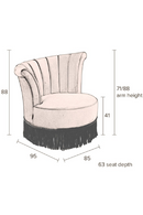 Brown Fringe Accent Chair | Dutchbone Flair | DutchFurniture.com
