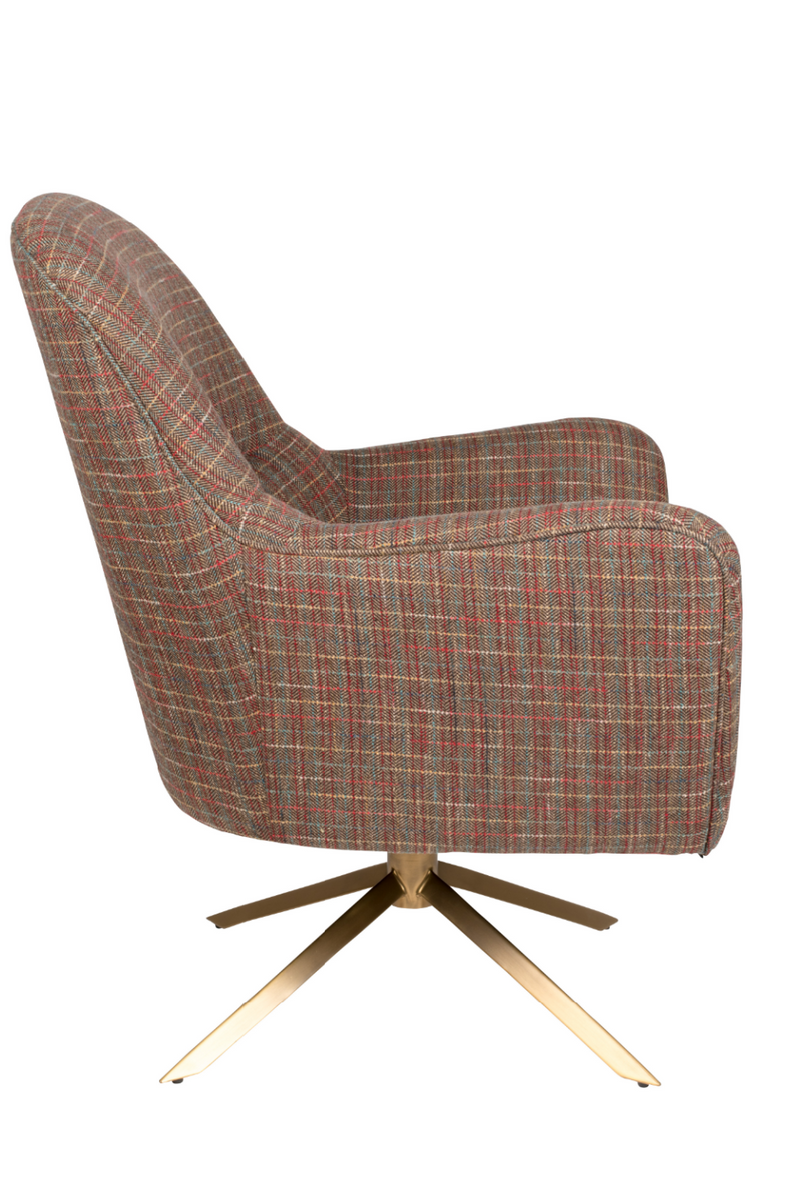 Tartan Upholstered Lounge Chair | Dutchbone Robusto | dutchfurniture.com