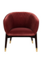 Burgundy Barrel Lounge Chair | Dutchbone Dolly | DutchFurniture.com
