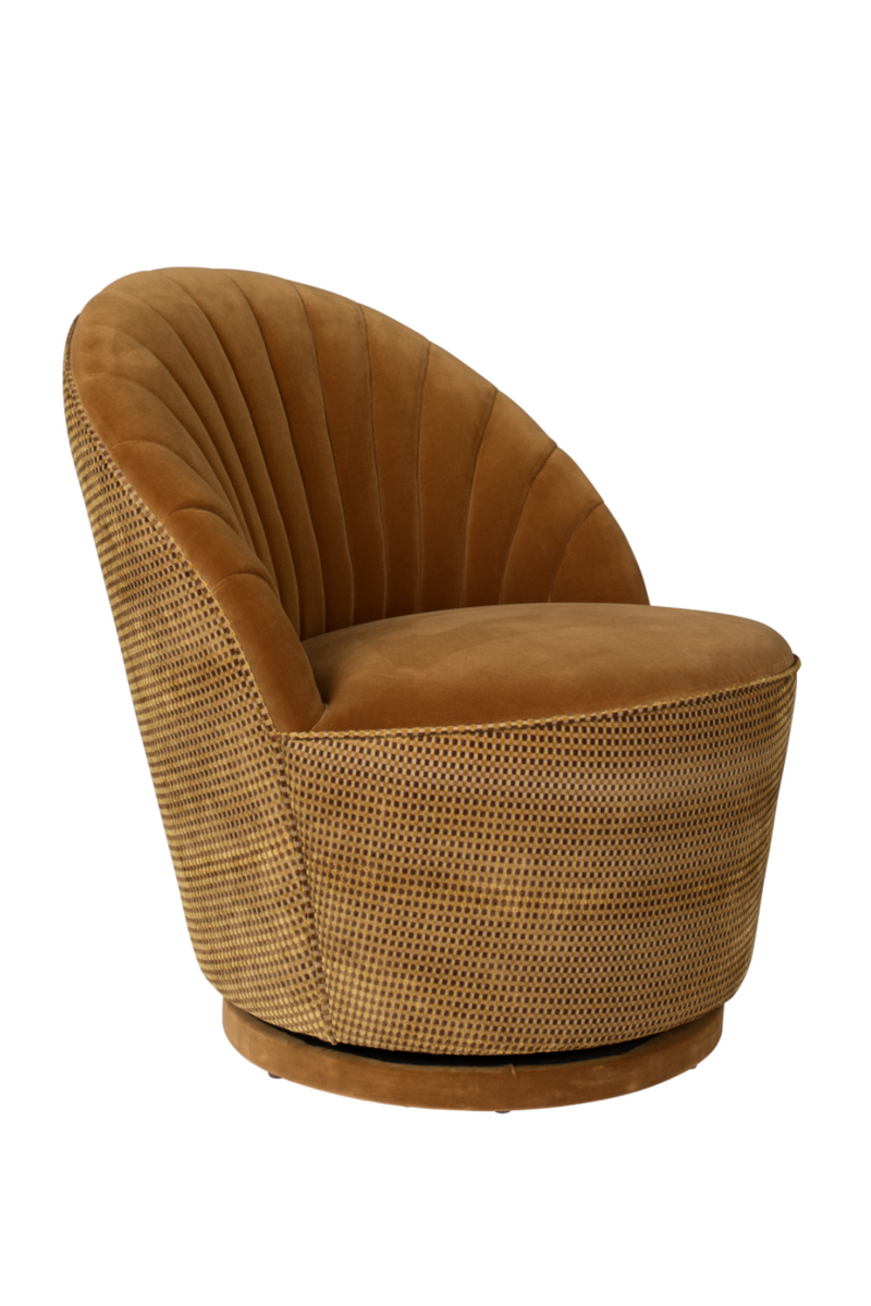 Brown Scallop Accent Chair | Dutchbone Madison | dutchfurniture.com