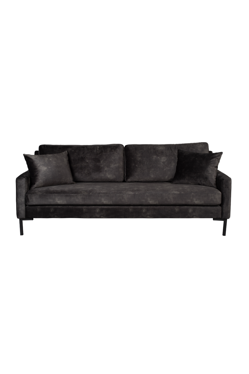 Dark Gray Upholstered 3-Seater Sofa | Dutchbone Houda | dutchfurniture.com