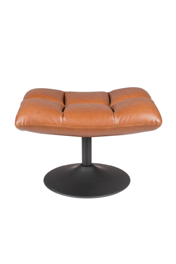 Brown Leather Ottoman | Dutchbone Bar | DutchFurniture.com