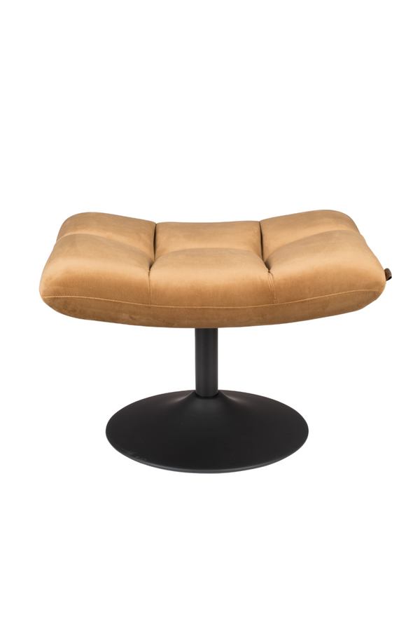 Gold Brown Upholstered Ottoman | Dutchbone Bar | DutchFurniture.com
