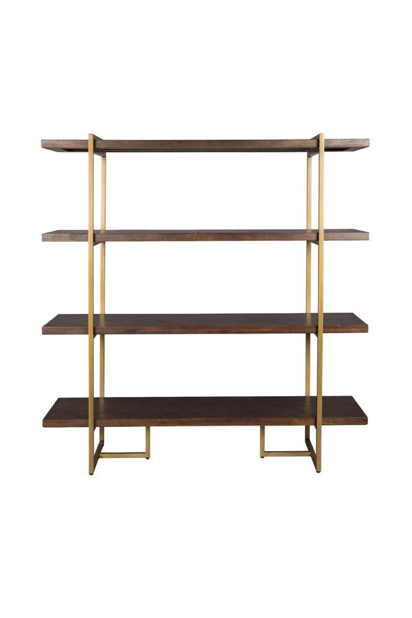 Acacia Wood 4-Shelf Bookcase | Dutchbone Class | DutchFurniture.com