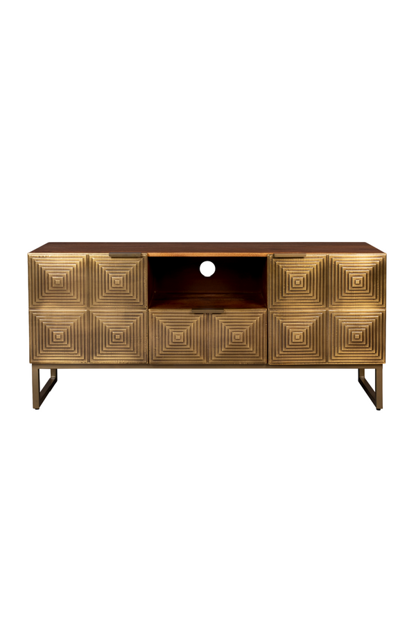 Art Deco Brass Sideboard | Dutchbone Volan | DutchFurniture.com