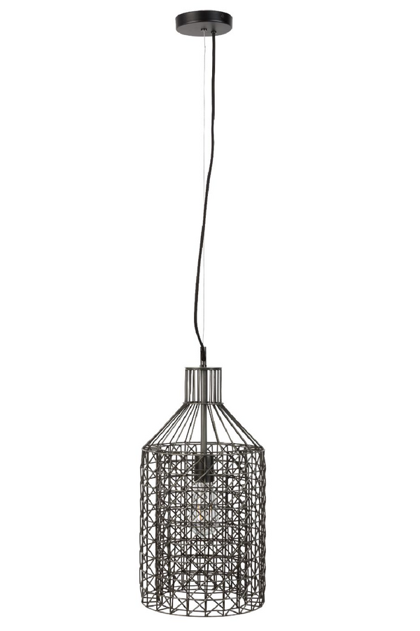 Gray Metal Weave Pendant Lamp L | Dutchbone Jim | DutchFurniture.com