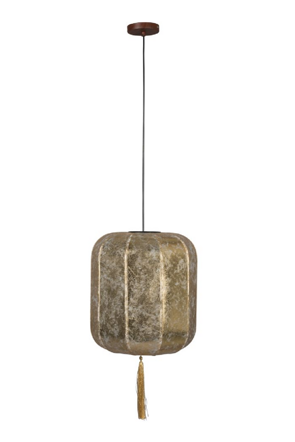 Gold Lantern Pendant Lamp L | Dutchbone Suoni | DutchFurniture.com