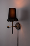 Black 1-Light Armed Wall Sconce | Dutchbone Loyd | DutchFurniture.com
