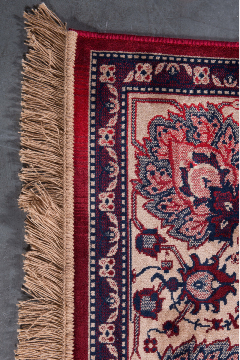 "Old Red Area Rug 5'5"" x 8' 