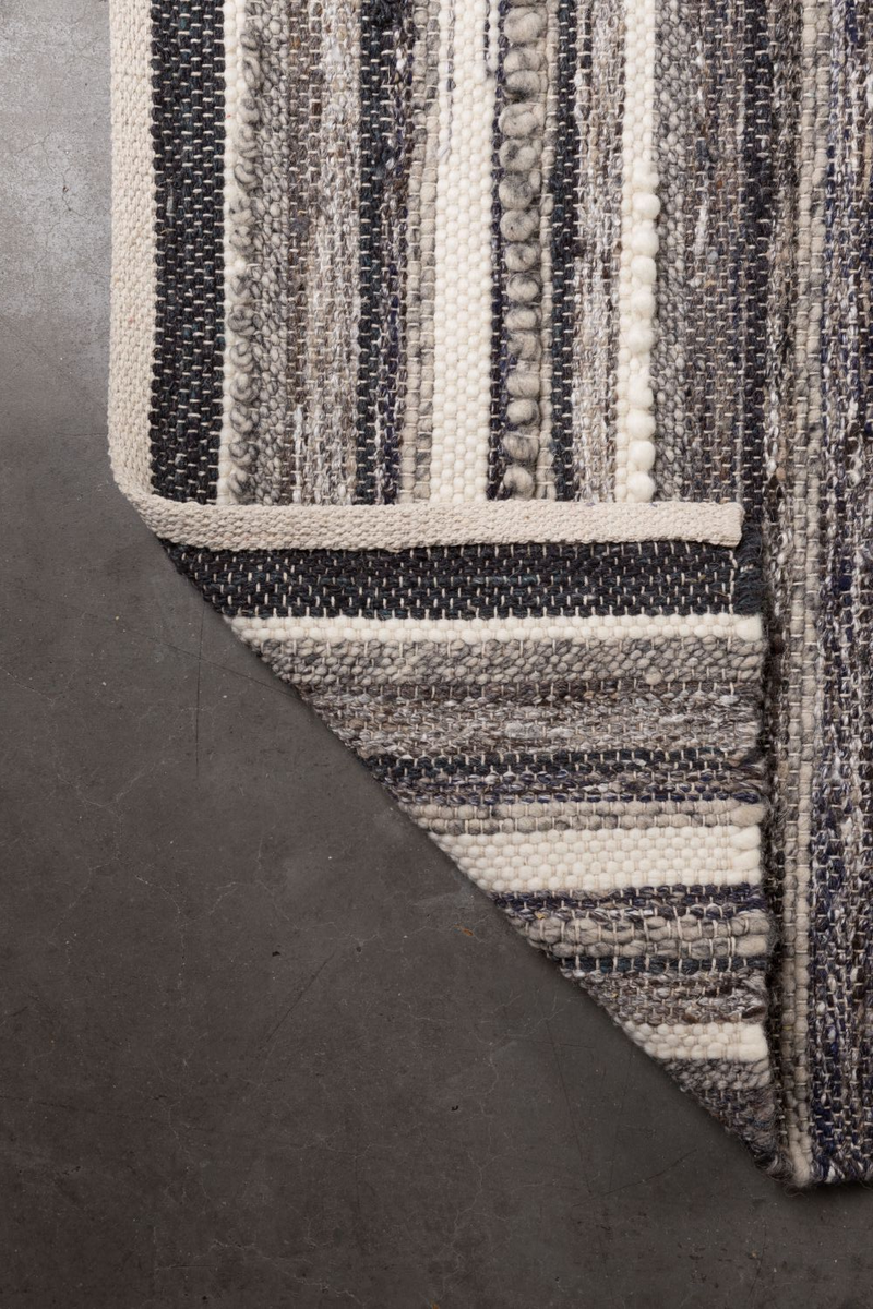 "Natural Charcoal Area Rug 5'5"" x 8' 