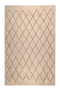 "Beige Diamond Area Rug 6'5"" x 10' 