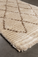 Beige Diamond Runner Rug 3' x 7'5"