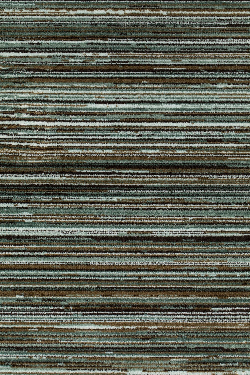 "Green Striped Area Rug 6'5"" x 10' 