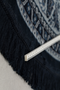 Round Blue Area Rug 70"
